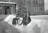Students in the snow, 1930s